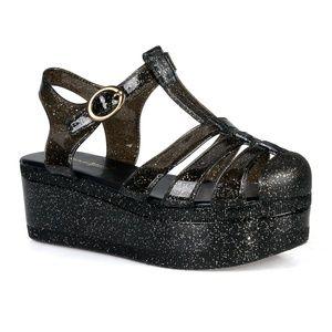DISCO-01 Caged Jelly Platform Women's Sandals